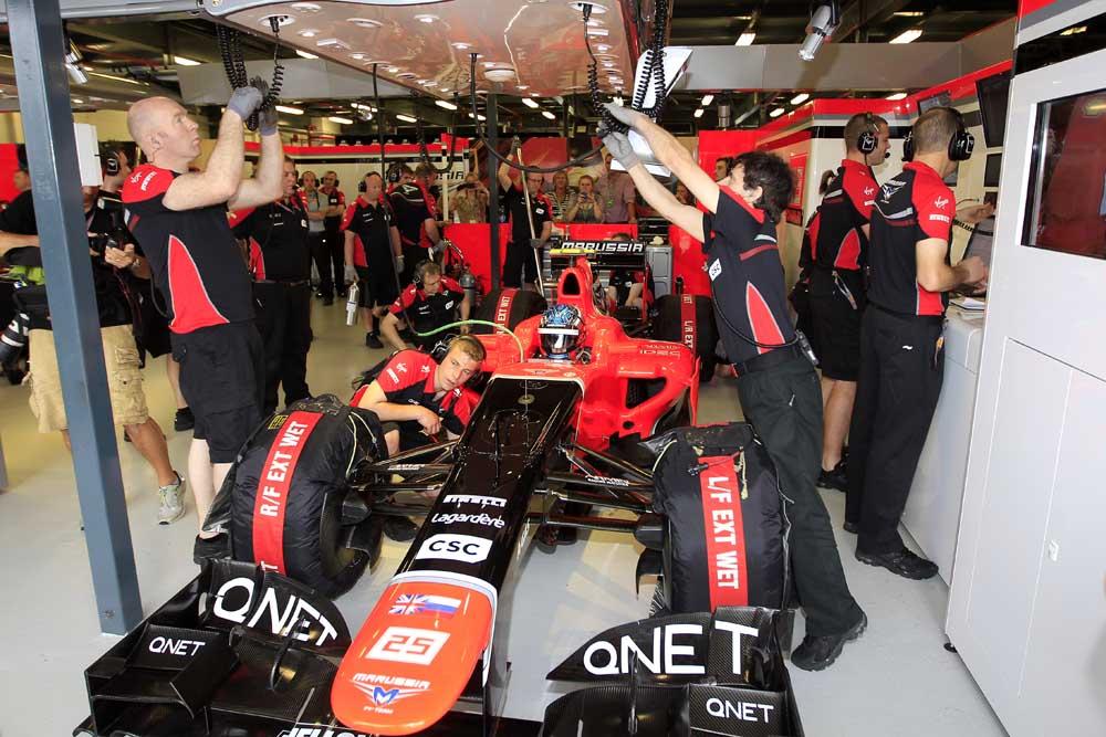 F1 2012 Australian Grand Prix Qualifying Marussia F1